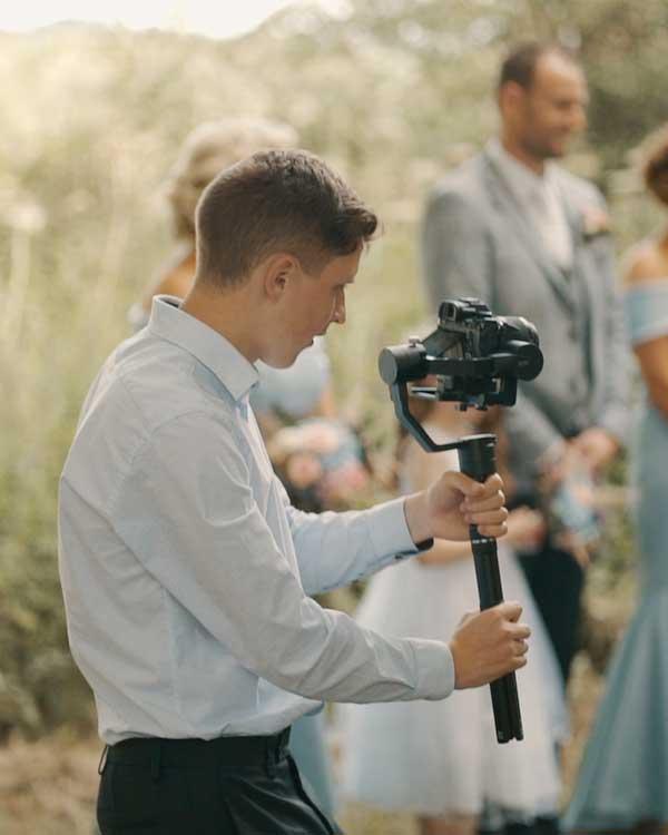 Jonas filming with gimbal