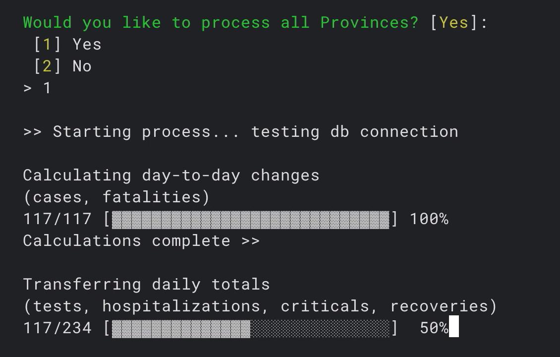 CLI to run data processing
