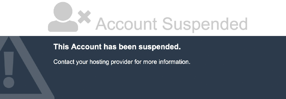 Account suspended notice