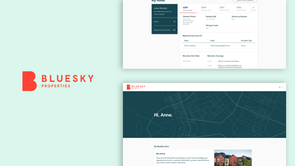 Using Design Systems, Bosa is able to scale their business model to other brands that sit under the Bosa Family of Companies, including BlueSky Properties (also a uniquely branded portal similar to Bosa Properties).