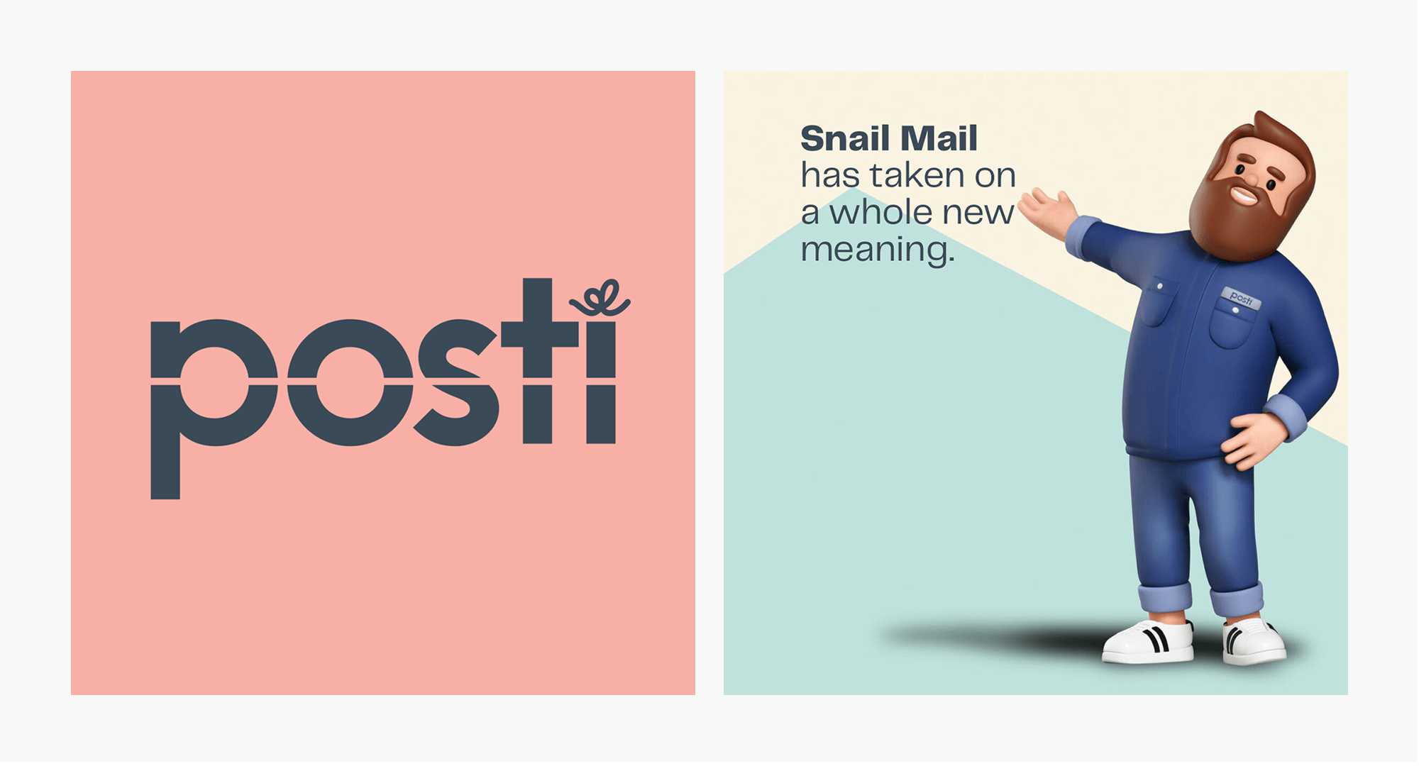 """Posti's logo and 3D character is saying """" Sail Mail has taken on a whole new meaning."""""""