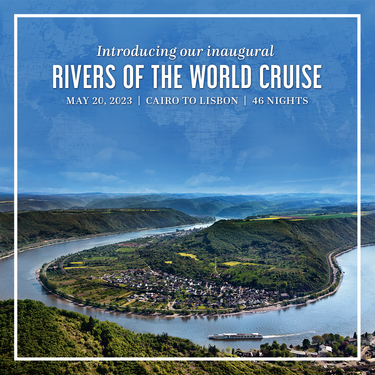 10% off Uniworld's Inaugural 2023 Rivers of the World Cruise!