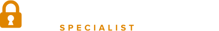 auto locksmith specialist white logo