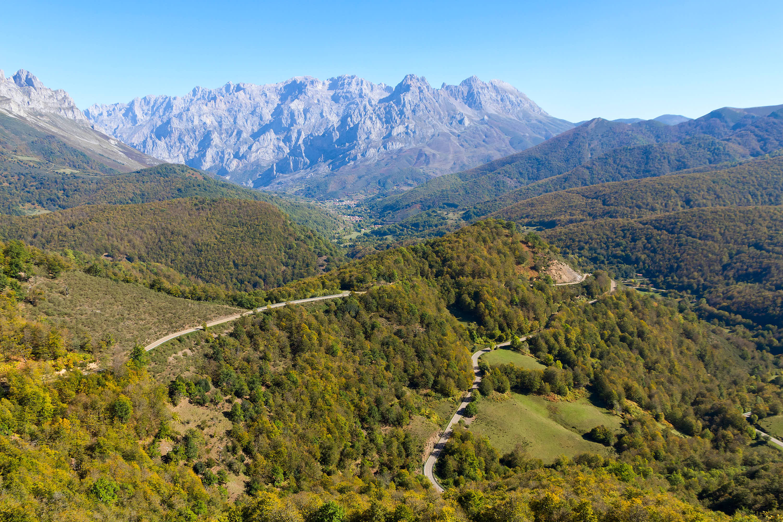 Valle de Valdeon, al atardecer, en Leon