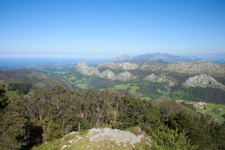 Vistas de la costa desde el Mirador del Fito, Caravia, Asturias