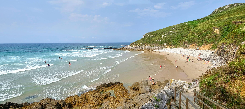 Playa de Bretones en Llanes, Asturias