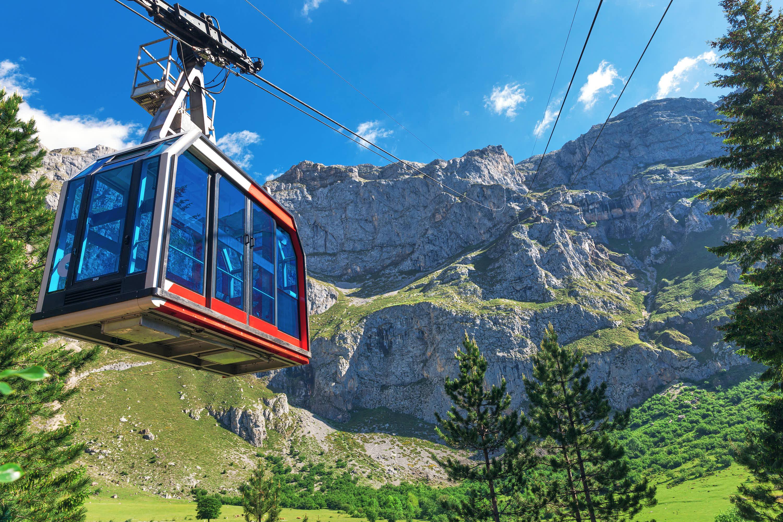 Cabina del teleférico de Fuente De, en los Picos de Europa de Cantabria