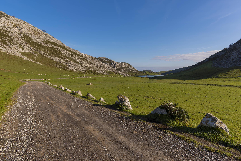 Camino en la Vega Enol cerca de Cangas de Onis, Asturias