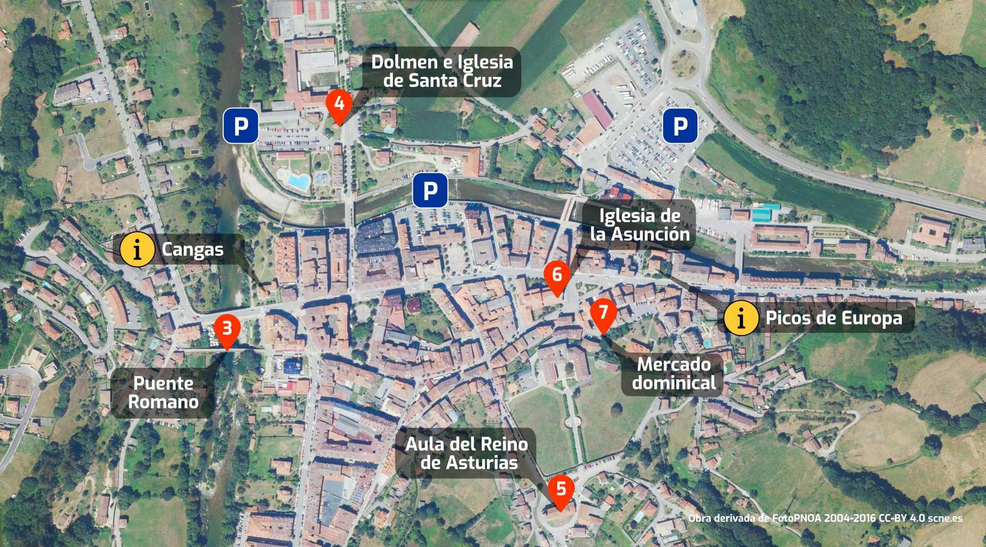 Plano de qué ver en Cangas de Onis,Asturias