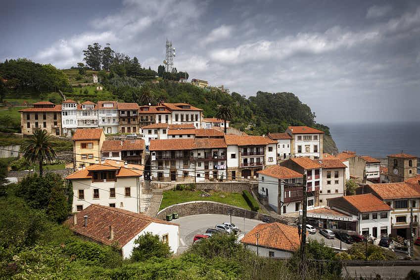 Casas de la villa de Lastres en Colunga, Asturias