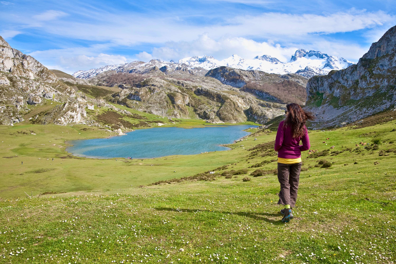 Trekking hacia el Ercina, en los Lagos de Covadonga, Cangas de Onís, Asturias