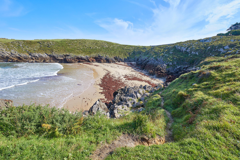 Camino de acceso a la Playa de La Tayada, en Celorio, Llanes, Asturias