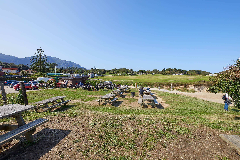 Chiringuito junto a la Playa de Borizo, en Celorio, Llanes, Asturias