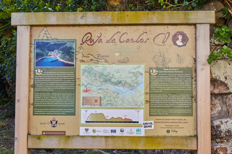 Ruta Carlos V Tazones, Villaviciosa, Asturias
