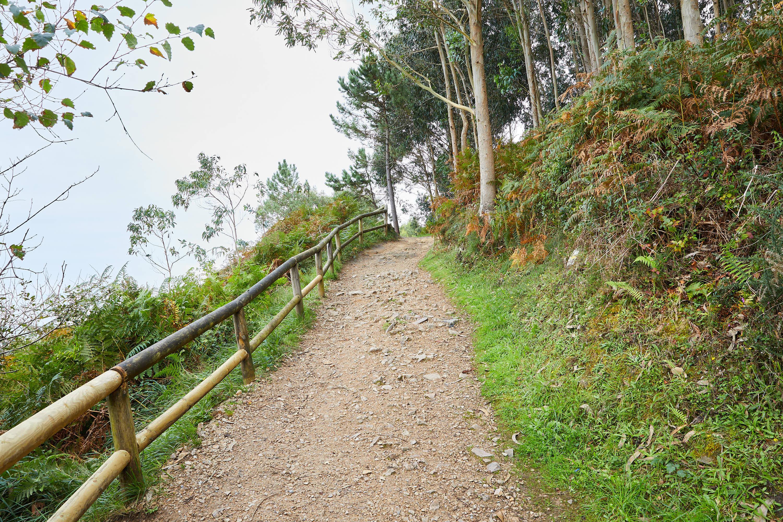 3 Camino hacia el yacimiento de icnitas con huellas de dinosaurio en la Playa de La Griega, Colunga, Asturias