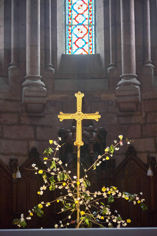 Réplica de la Cruz de la Victoria en la Basilica de Covadonga, Cangas de Onís, Asturias