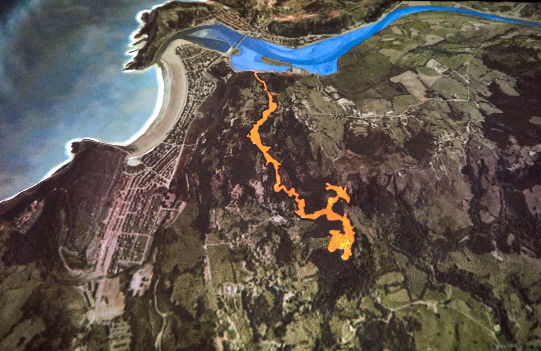 Plano de la Cueva de Tito Bustillo en Ribadesella, Asturias