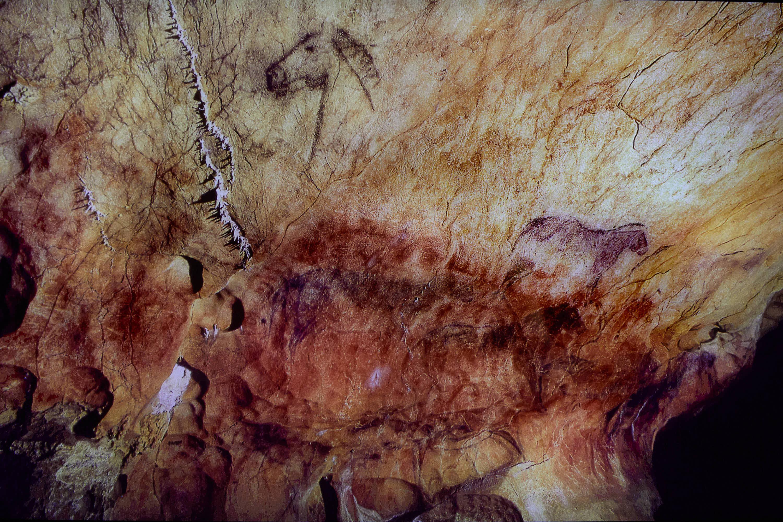 Panel Principal de la Cueva de Tito Bustillo en Ribadesella, Asturias