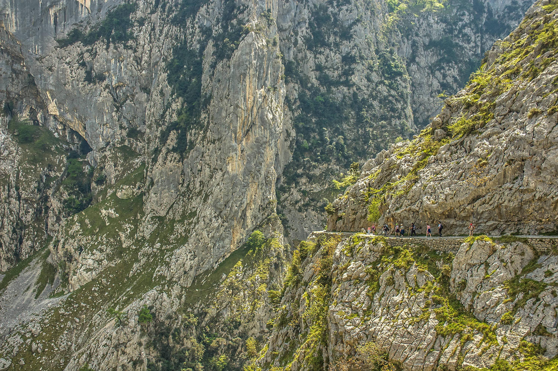 Espectacular paisaje en la Ruta del Cares entre Poncebos (Asturias) y Cain (León)