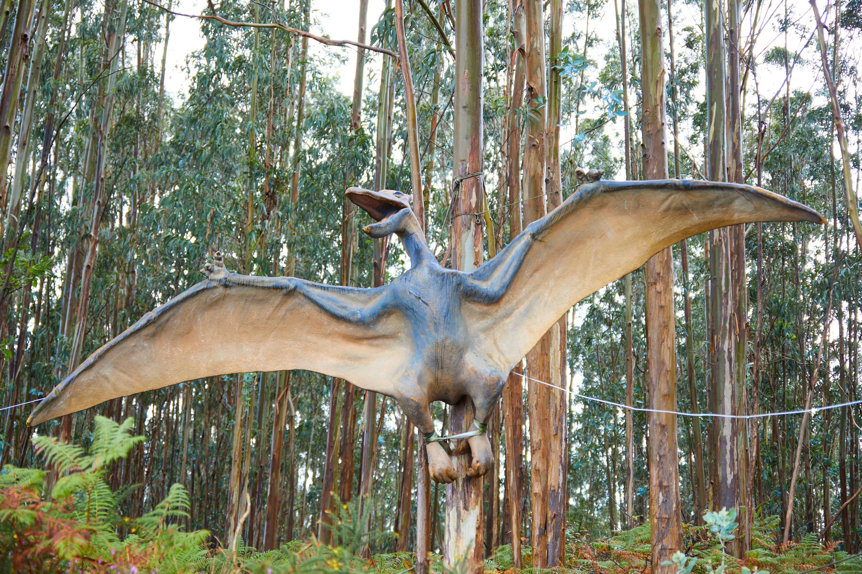 Maqueta de dinosaurio Pteranodon en el Museo del Jurásico de Asturias, MUJA, Colunga