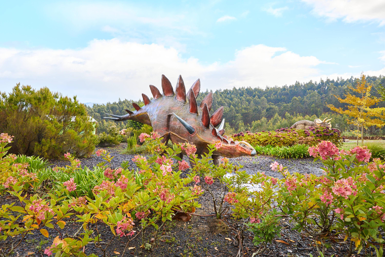 Maqueta de dinosaurio Dacentrurus en el Museo del Jurásico de Asturias, MUJA, Colunga