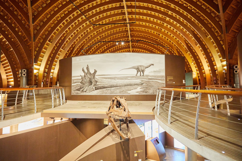 Interior del Museo del Jurásico de Asturias, MUJA, Colunga