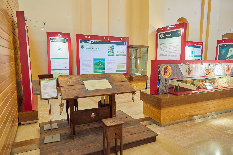 Vista de la exposición del Aula del Reino en Cangas de Onís, Asturias