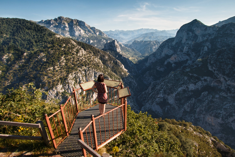 Mirador de Santa Catalina, sobre el Desfiladero de la Hermida, en Cantabria
