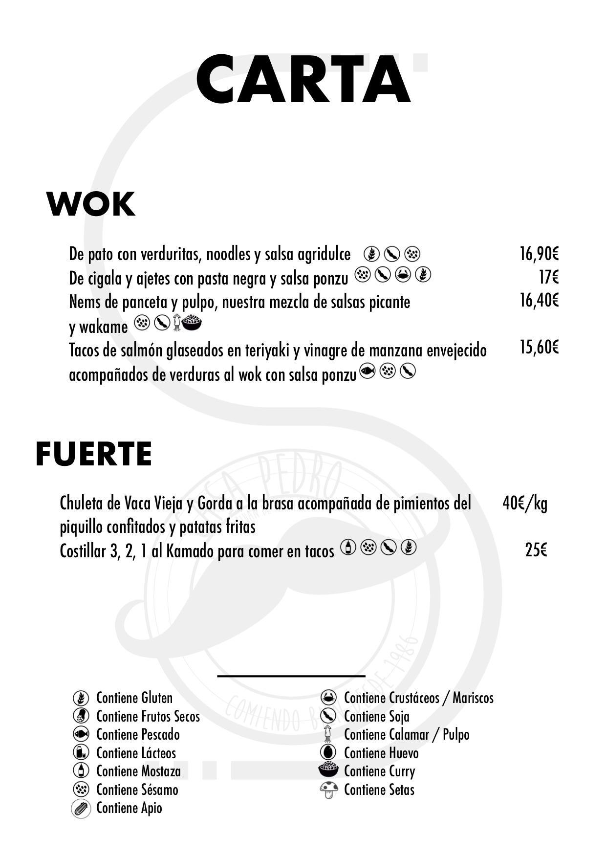 Restaurante Casa Pedro Parres Cangas de Onís Carta con precios Principales