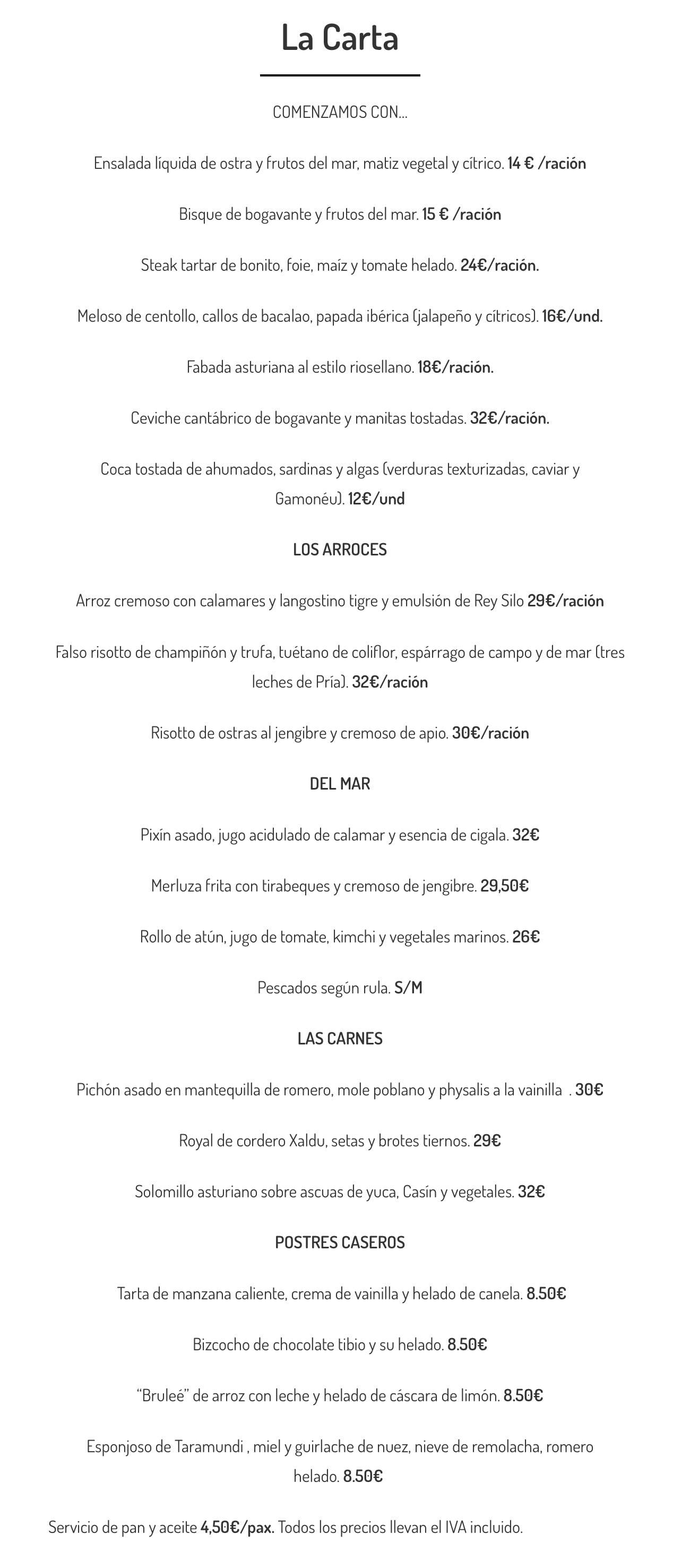 Carta-restaurante-Arbidel-Ribadesella-Asturias-abril-2021