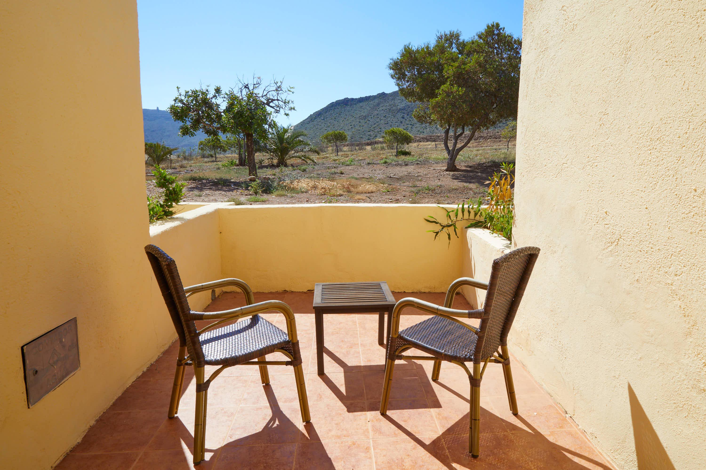 Terraza de habitación del Hotel Cortijo El Sotillo en SanJose, Cabo de Gata, Nijar, Almeria, Andalucia