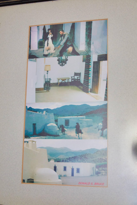 Fotogramas de la pelicula Por un puñado de dolares, de Sergio Leone, con Clint Eastwood, rodada en el Hotel Cortijo El Sotillo en SanJose, Cabo de Gata, Nijar, Almeria, Andalucia