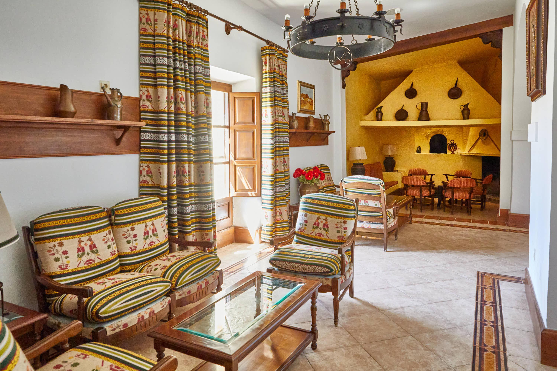Cafeteria del Hotel Cortijo El Sotillo en SanJose, Cabo de Gata, Nijar, Almeria, Andalucia
