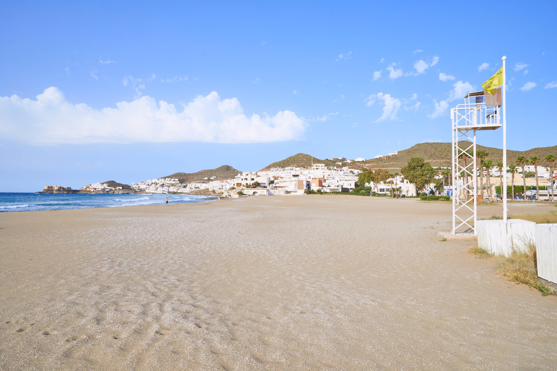 Playa de San Jose, en Cabo de Gata, Nijar, Almeria
