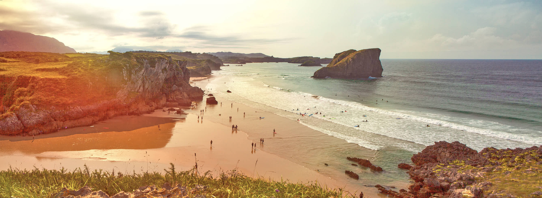 Playa de San Martin en Llanes, Asturias