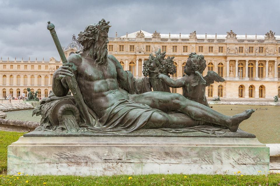 Versailles, Paris, Statue, Royale, Historiques, Château