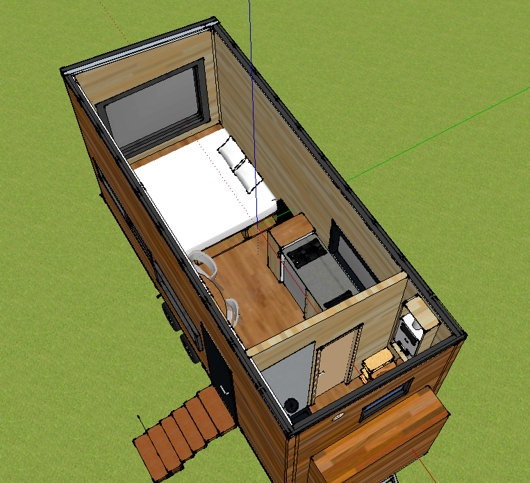 plan 3D tiny house