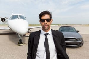 Rich and Successful People Man With Plane Cars