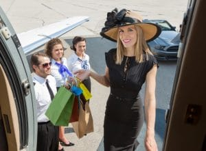 Rich and Successful People Woman with Plane