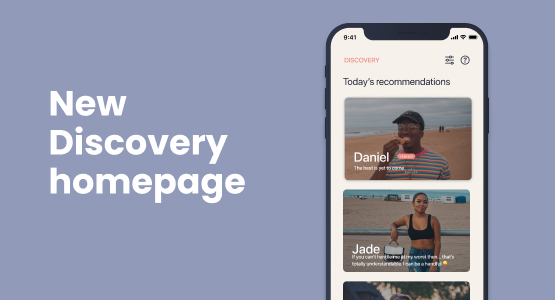 New Elate Discovery page