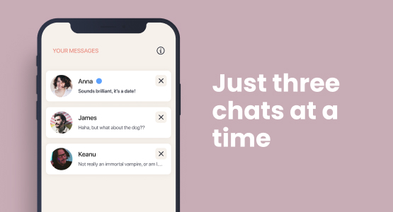 Three chats at a time on Elate