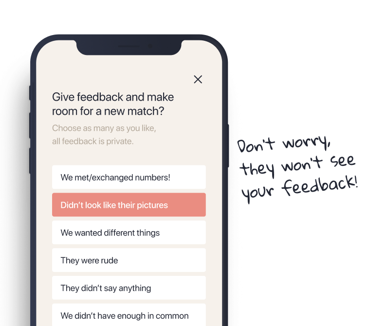 A dating app with zero tolerance for harassment