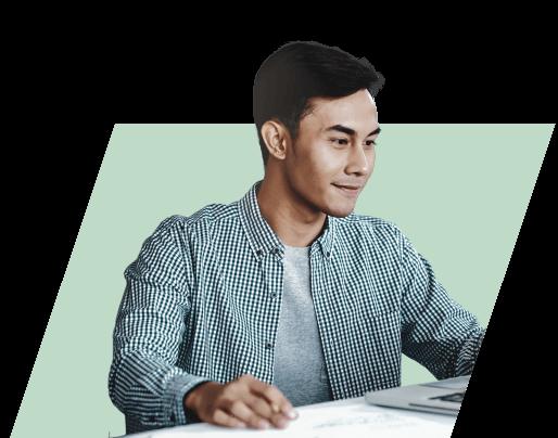 Depiction of accountant Yokoy user / Darstellung Buchhalter Yokoy Nutzer