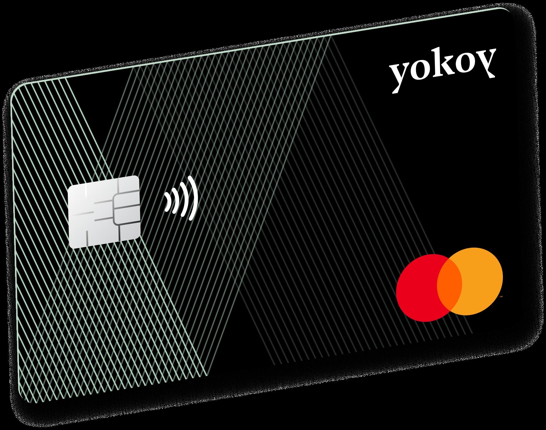 A skewed Yokoy Mastercard