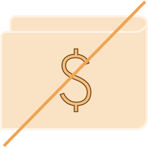 Free of charge symbol