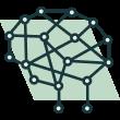 An AI self learning brain icon