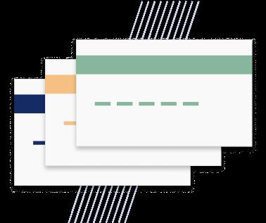 A stack of Yokoy virtual cards icon