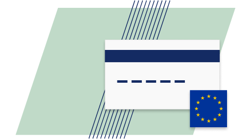 Icon of a Visa card
