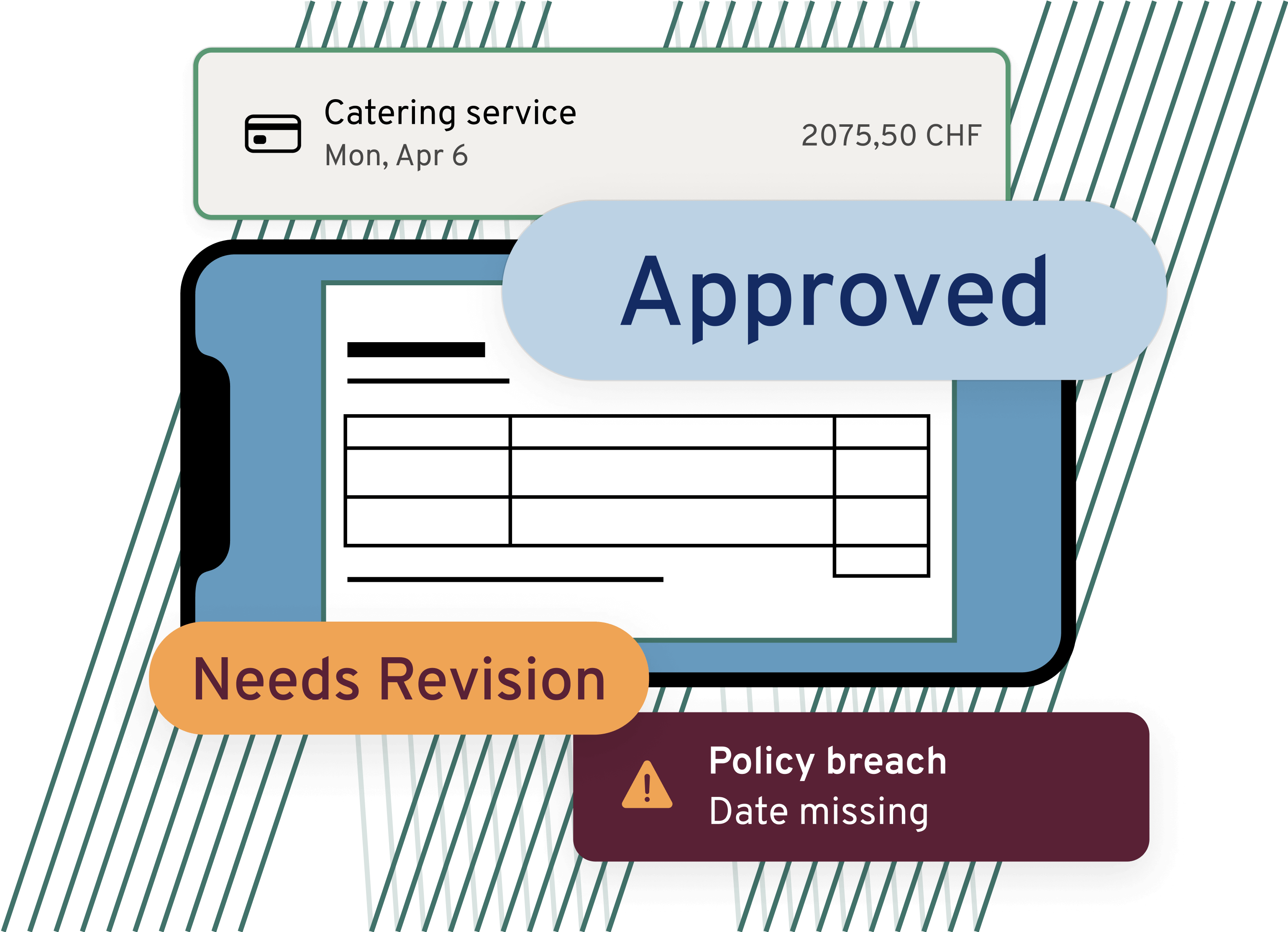 Invoice approval icon