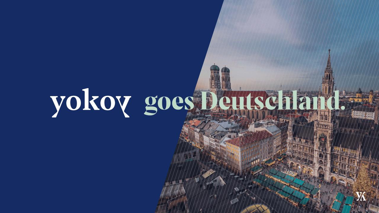 Yokoy geht nach Deutschland: Logo von Yokoy und von München